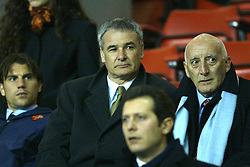 LIVERPOOL, ENGLAND - Tuesday, March 19, 2002: Chelsea manager Claudio Ranieri watches Liverpool take on AS Roma during the UEFA Champions League Group B match at Anfield. (Pic by David Rawcliffe/Propaganda)