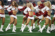 The Arizona Cardinals cheerleaders perform a dance routine before the NFL NFC Divisional round playoff football game against the Green Bay Packers on Saturday, Jan. 16, 2016 in Glendale, Ariz. The Cardinals won the game in overtime 26-20. (©Paul Anthony Spinelli)