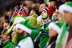 October 8, 2017 - Oslo, NORWAY - 171008 Fans of Northern Ireland looks dejected  during the FIFA World Cup Qualifier match between Norway and Northern Ireland on October 8, 2017 in Oslo..Photo: Jon Olav Nesvold / BILDBYRÃ…N / kod JE / 160041 (Credit Image: © Jon Olav Nesvold/Bildbyran via ZUMA Wire)