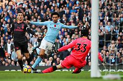 Leroy Sane of Manchester City has a shot saved by Petr Cech of Arsenal - Mandatory by-line: Matt McNulty/JMP - 05/11/2017 - FOOTBALL - Etihad Stadium - Manchester, England - Manchester City v Arsenal - Premier League
