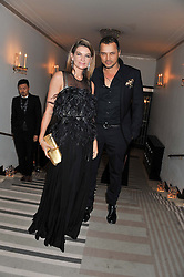 NATALIE MASSENET and GERRY DEVEAUX at the Harper's Bazaar Women of the Year Awards 2011 held at Claridge's, Brook Street, London on 7th November 2011.