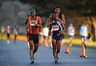CAPE TOWN, SOUTH AFRICA - OCTOBER 10: Lewis Molise (505) of CGA, Mtunzi Mnisi (504) of AGN in the mens 50km during the South African Race Walking Championship at Youngsfield Military Base on October 10, 2015 in Cape Town, South Africa. (Photo by Roger Sedres/ImageSA)
