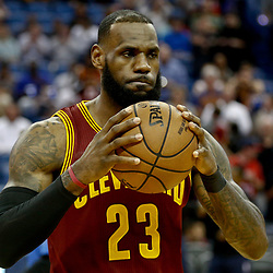 Jan 23, 2017; New Orleans, LA, USA; Cleveland Cavaliers forward LeBron James (23) before a game against the New Orleans Pelicans at the Smoothie King Center. Mandatory Credit: Derick E. Hingle-USA TODAY Sports