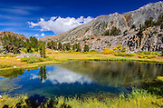Alpine tarn under Bishop Pass, John Muir Wilderness, Sierra Nevada Mountains, California