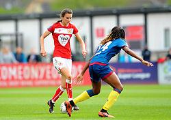 Rosella Ayane of Bristol City tries to get past Vyan Sampson- Mandatory by-line: Nizaam Jones/JMP - 28/04/2019 - FOOTBALL - Stoke Gifford Stadium - Bristol, England - Bristol City Women v West Ham United Women - FA Women's Super League 1