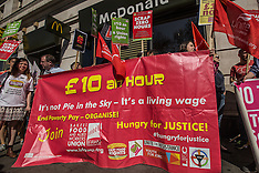 15 Apr.2015 - 'Hungry for Justice' Global day of action against McDonald's in London
