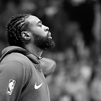 31 December 2017: LA Clippers center DeAndre Jordan (6) stands during the national anthem prior to the LA Clippers 106-98 victory over the Charlotte Hornets, at the Staples Center, Los Angeles, California, USA.