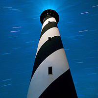 29 July 2011:  The Cape Hatteras Light house taken at night with a 35 minute exposures to show the star trails.