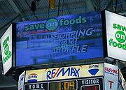 KELOWNA, CANADA - JANUARY 05:  Save on Foods at the Kelowna Rockets game on January 05, 2018 at Prospera Place in Kelowna, British Columbia, Canada.  (Photo By Cindy Rogers/Nyasa Photography,  *** Local Caption ***