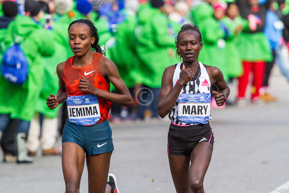 NYC Marathon, Keitany, Sumgong break away nearing mile 23