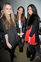 Left to right, BRYONY DANIELS, LAVINIA BRENNAN and LADY NATASHA RUFUS-ISAACS at a party to launch pop-up store Oxygen Boutique, 33 Duke of York Square, London SW3 on 8th February 2011.