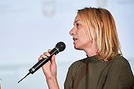 Warsaw, Poland - 2017 April 07: Sylwia Antoszkiewicz - image consultant, owner of Lous fashion brand speaks while The Day of Health - science conference in the National Library on April 07, 2017 in Warsaw, Poland.<br /> <br /> Mandatory credit:<br /> Photo by © © Adam Nurkiewicz / Mediasport / Mediasport<br /> <br /> Picture also available in RAW (NEF) or TIFF format on special request.<br /> <br /> Any editorial, commercial or promotional use requires written permission from the author of image.<br /> <br /> Adam Nurkiewicz declares that he has no rights to the image of people at the photographs of his authorship.
