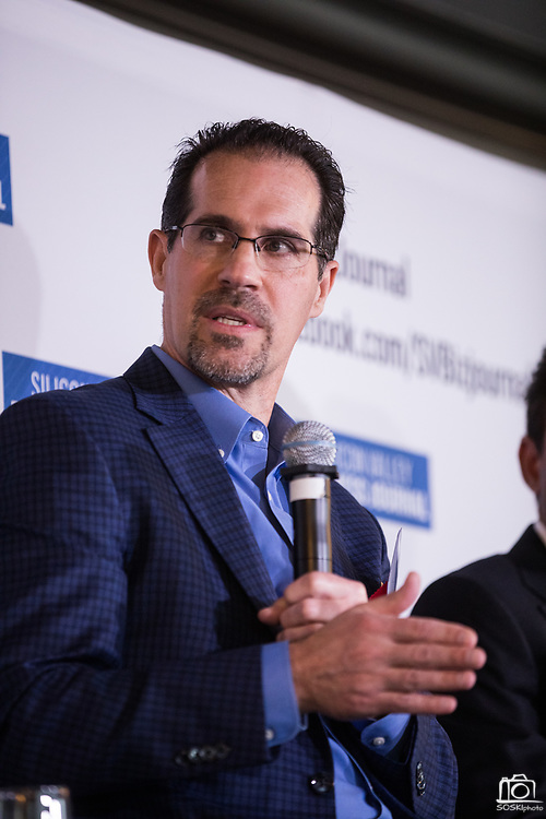Mark Heyl talks during the Business of Cannabis event at the Silicon Valley Capital Club in San Jose, California, on April 4, 2019. (Stan Olszewski for Silicon Valley Business Journal)