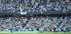 MANCHESTER, ENGLAND - Sunday, May 1, 2011: Manchester City's fans celebrate 'Poznan' style during the Premiership match against West Ham United at the City of Manchester Stadium. (Photo by David Tickle/Propaganda)