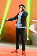 Saïd M'Roumbaba say Soprano concert during de Festival of Scenes sur Sambre, 29 august 2015, Thuin, Belgium