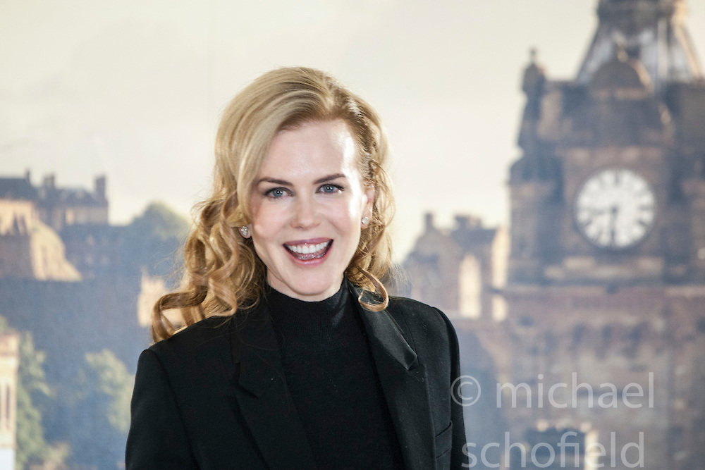 Nicole Kidman at the Photocall for Jonathan Teplitzkys film The Railway Man at Creative Scotland, Edinburgh. .©Michael Schofield...