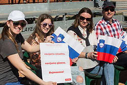 Supporters of Slovenia during Davis Cup 2018 Europe/Africa zone Group II between Slovenia and Turkey, on April 8, 2018 in Portoroz / Portorose, Slovenia. Photo by Vid Ponikvar / Sportida