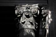 Corinthian capital, inside entrance, Eglise Saint-Sulpice (St Sulpitius' Church), c.1646-1745, late Baroque church on the Left Bank, Paris, France. Picture by Manuel Cohen