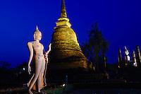 Thailande, province de Sukhothai, parc archeologique de Sukhothai, Wat Sa Sri // Thailand, Sukhothai, Sukhothai Historical Park, Wat Sa Sri
