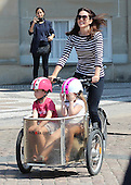 EXCLUSIVE Crown Princess Mary of Denmark with her daughters – private bike tour in front of castle