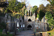 The Hellfire Caves, built by in the 18th century by Sir Francis Dashwood, into a chalk hill in Buckinghamshire