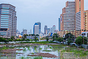 03 OCTOBER 2012 - BANGKOK, THAILAND:   An empty lot suitable for redevelopment as infill in Bangkok, Thailand. Bangkok is one of the fastest growing urban areas in the world.  PHOTO BY JACK KURTZ