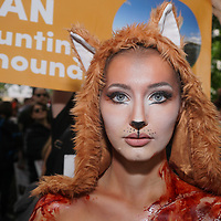Anti-Hunt March against Fox Hunting