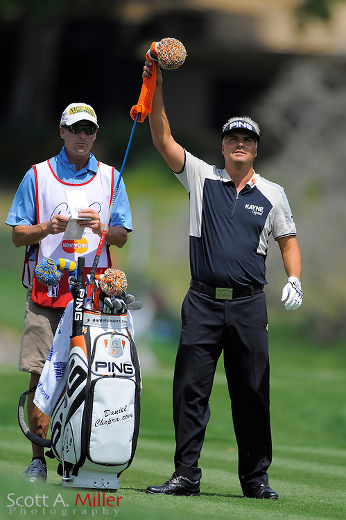 March 26, 2009; Orlando, FL, USA;  Daniel Chopra and his caddie on the 16th hole during the first round of the Arnold Palmer Invitational at the Bay Hill Club and Lodge. ©2009 Scott A. Miller