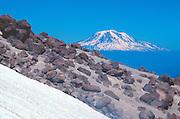Mt. Adams from Monitor Ridge, Mt. St. Helens, Mt. St. Helens National Volcanic Monument, Washington, US, July 2004