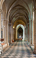 Inside the cathedral at Abbaye aux Hommes in Caen, France