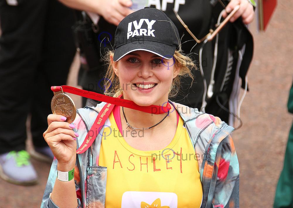 Ashley James, Virgin Money London Marathon, London UK, 24 April 2016, Photo by Brett D. Cove