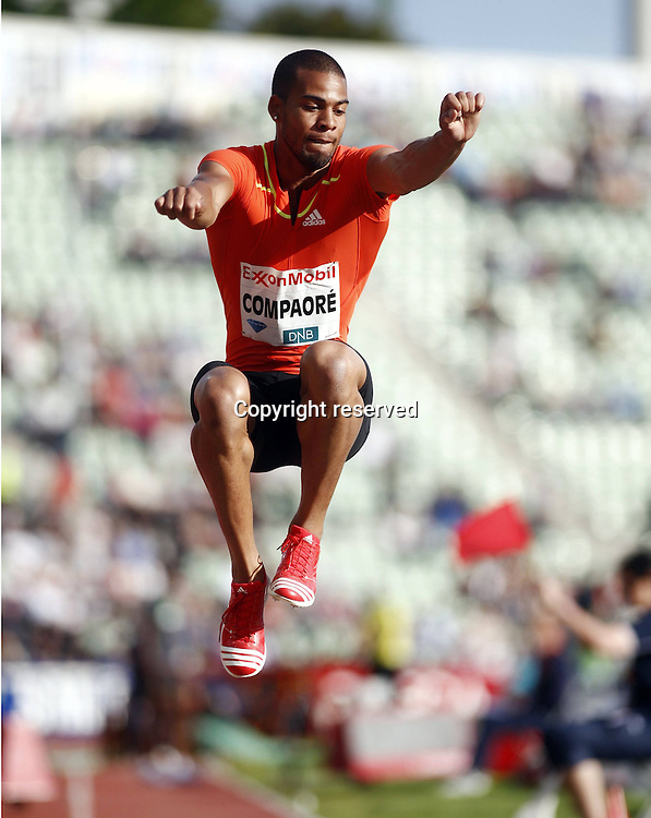 07.06.2012. Paris, France.   Diamond League Bislett Games Benjamin Compaore FRA  Triple Jump