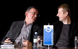Franc Polovic in Marko Obrstar na okrogli mizi o krizi slovenskega rokometa danes, 26. oktober 2010, kongresna dvorana Mercurius, BTC City, Ljubljana, Slovenija. (Photo by Vid Ponikvar / Sportida)