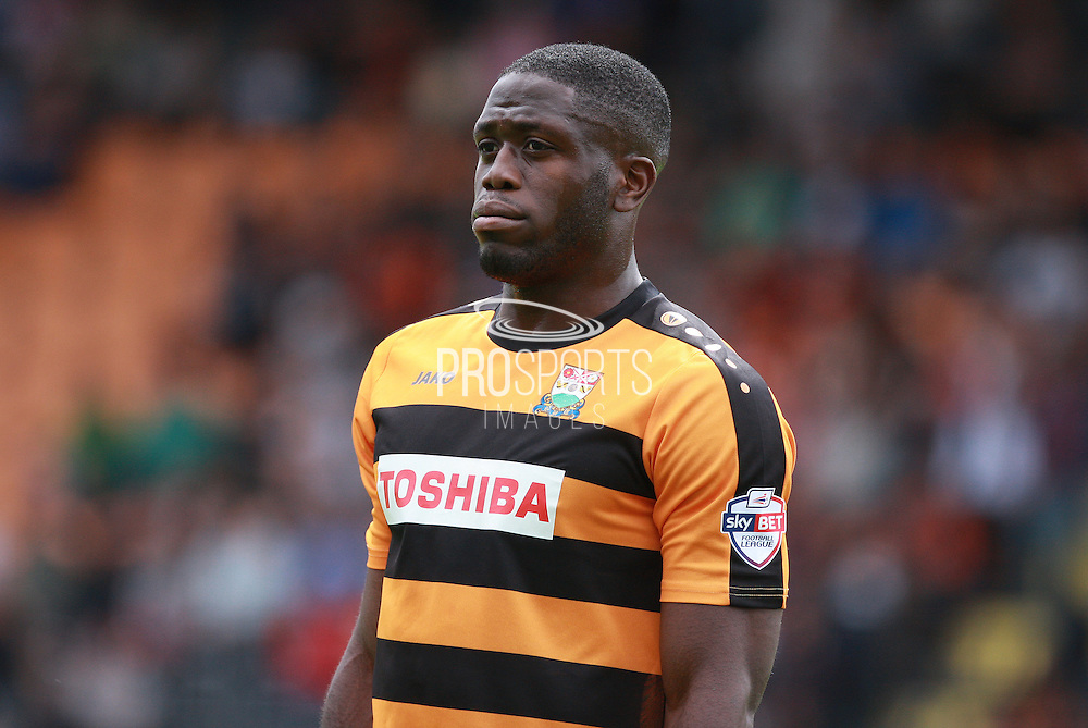 Barnet player John Akinde during the Sky Bet League 2 match between Barnet and Wycombe Wanderers at The Hive Stadium, London, England on 15 August 2015. Photo by Bennett Dean.