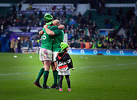 LONDON, ENGLAND - MARCH 17: Ireland's Rory Best with Rob Kearney after the NatWest Six Nations Championship match between England and Ireland at Twickenham Stadium on March 17, 2018 in London, England. (Photo by Ashley Western - MB Media via Getty Images)