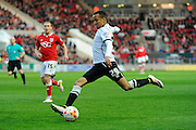 Derby County defender Marcus Olsson during the Sky Bet Championship match between Bristol City and Derby County at Ashton Gate, Bristol, England on 19 April 2016. Photo by Graham Hunt.
