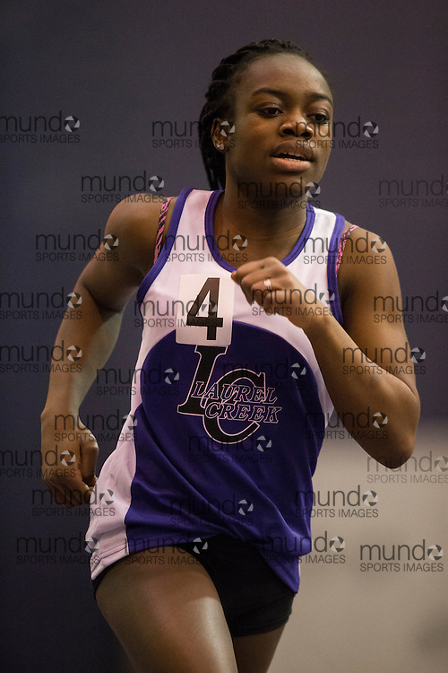 Princess Benson of Laurel Creek competes at the STL-LW All Comers Meet # 2 in London, Ontario, Saturday, January 24, 2015.<br /> Mundo Sport Images/ Geoff Robins