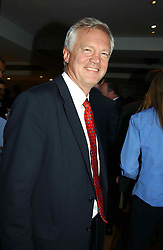 DAVID DAVIS MP at the Conservative party Pre-Conference Season party hosted by Lord Saatchi and Lord Strathclyde and held at M&C Saatchi, 36 Golden Square, London W1 on 7th September 2004.