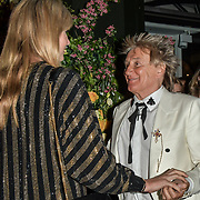 Rod Stewart and Penny Lancaster arrives at Tramp Members Club 40 Jermyn Street, on 23 May 2019, London, UK.
