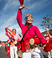 """Dancers perform during the 114th annual Chinese New Year """"Golden Dragon Parade"""" in the streets of Chinatown in Los Angeles, Saturday Feburary 16, 2013. (Photo by Ringo Chiu/PHOTOFORMULA.com)."""