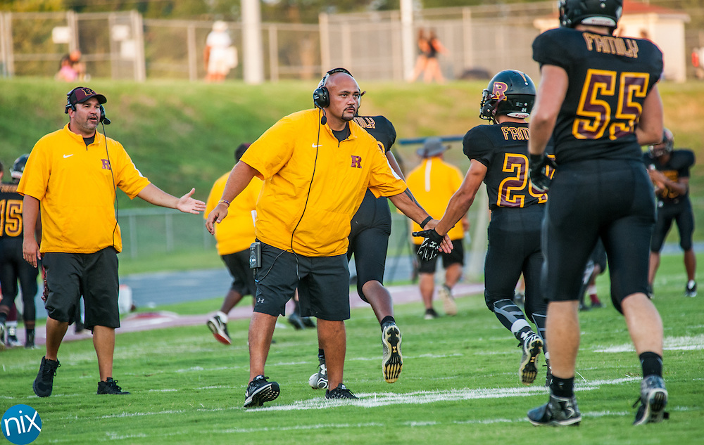 Jay M. Robinson head coach Joe Glass during a game against Northwest Cabarrus Friday night at Jay M. Robinson High School in Concord.