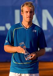 Second placed Grega Zemlja of Slovenia after  the final match during day seven of the ATP Challenger Tour BMW Ljubljana Open 2011, on September 25, 2011, in TC Ljubljana Siska, Slovenia. (Photo by Vid Ponikvar / Sportida)