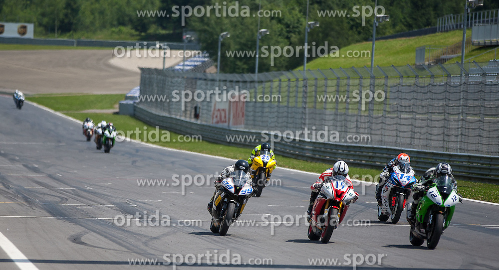 01.07.2012, Red Bull Ring, Spielberg, AUT, IDM Red Bull Ring, Renntag, im Bild Dominic Schmitter, (Supersport, SUI, #99), Kevin Wahr, (Supersport, GER, #19), Roman Raschie, (Supersport, SUI, #12), Roman Stamm, (Supersport, SUI, #14), Tatu Lausletho, (Supersport, FIN, #25, 1. Platz), Roman Stamm, (Supersport, SUI, #14) // during the IDM race day on the Red Bull Circuit in Spielberg, 2012/07/01, EXPA Pictures © 2012, PhotoCredit: EXPA/ M. Kuhnke
