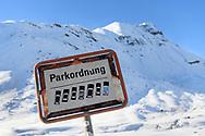Order must be, even when ski touring, Julier, Parc Ela, Grisons, Switzeland