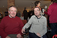 Peter and Michael At the Launch of the SCCUL Sanctuary at Kilcuan, Clarinbridge were <br /> Photo:Andrew Downes