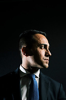 POMIGLIANO D'ARCO, ITALY - 11 FEBRUARY 2018: Luigi Di Maio (31), running for Prime Minister of Italy with the Five Stars Movement (M5S, Movimento 5 Stelle) poses for a portrait in at his parents' apartment in Pomigliano D'Arco, Italy, on  February 11th 2018.<br /> <br /> The 2018 Italian general election is due to be held on 4 March 2018 after the Italian Parliament was dissolved by President Sergio Mattarella on 28 December 2017.<br /> Voters will elect the 630 members of the Chamber of Deputies and the 315 elective members of the Senate of the Republic for the 18th legislature of the Republic of Italy, since 1948.