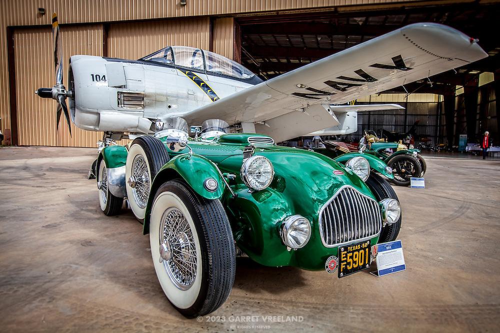 Allard, T-28 Trojan, Morgan Tableau, Planes and Cars at the Santa Fe Airport, 2013 Santa Fe Concorso.