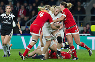 England Women v Canada Women in an Old Mutual Wealth Series, Autumn International match at Twickenham Stadium, London, England, on 26th November 2016. Full time score 39-6