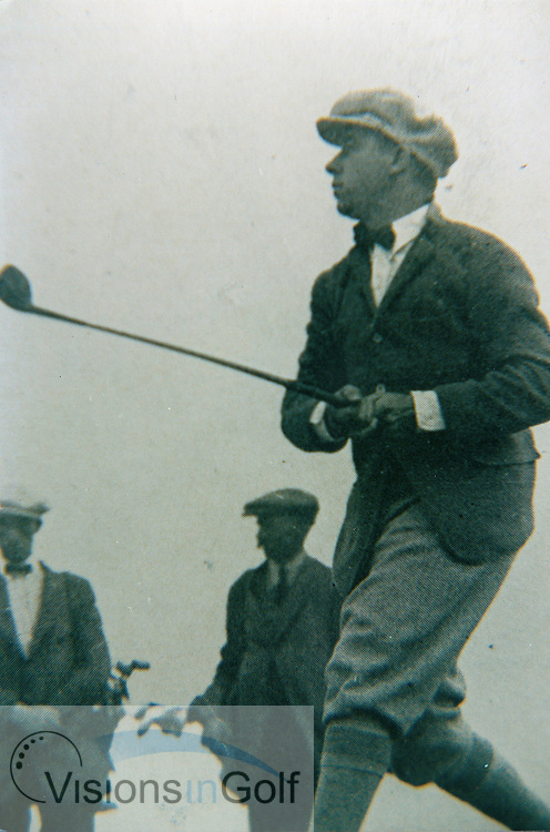 Walter Hagen in the 1922 Open Championship at Sandwich<br /> Picture Credit: &copy;Visions In Golf / Michael Hobbs