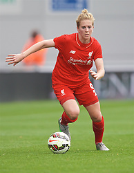 MANCHESTER, ENGLAND - Sunday, August 30, 2015: Liverpool's Natasha Dowie during the League Cup Group 2 match against Manchester City at the Academy Stadium. (Pic by Paul Currie/Propaganda)